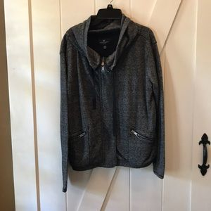 American Eagle outfitters black zip up jacket Sz M